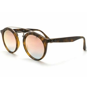 Ray-Ban Round Style Copper Mirrored Lens